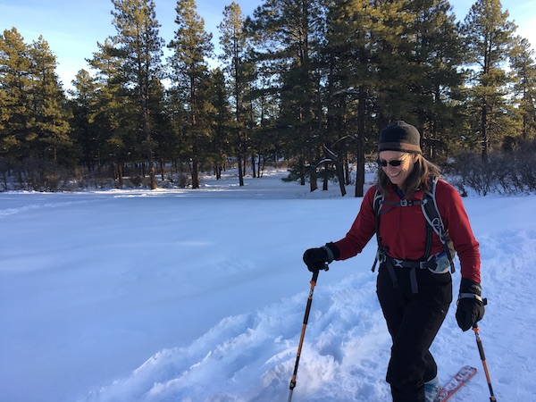 Susan skiing